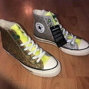 J.W. Anderson x Converse Glitter High Tops